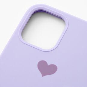 Lavender Heart Phone Case - Fits iPhone 12/12 Pro,