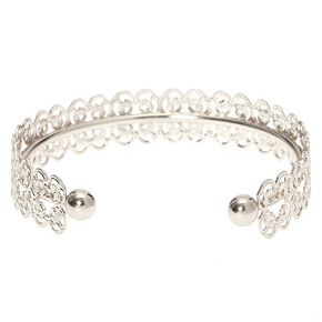 Silver Filigree Cuff Bracelet,