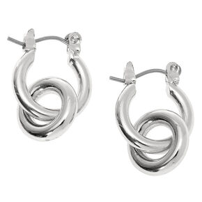 Silver 15MM Tube Hoop Earrings,