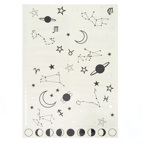Constellation Temporary Tattoos - Black,