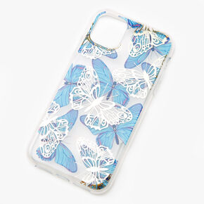 Blue & White Butterflies Phone Case - Fits iPhone 11,