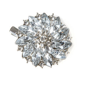 Crystal Poinsettia Hair Clip,