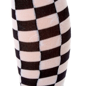 Checkered Over The Knee Socks,