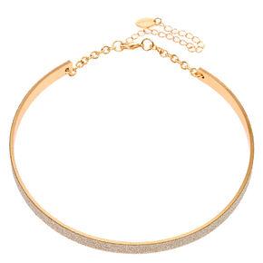 Silver Glitter Tape Collar,