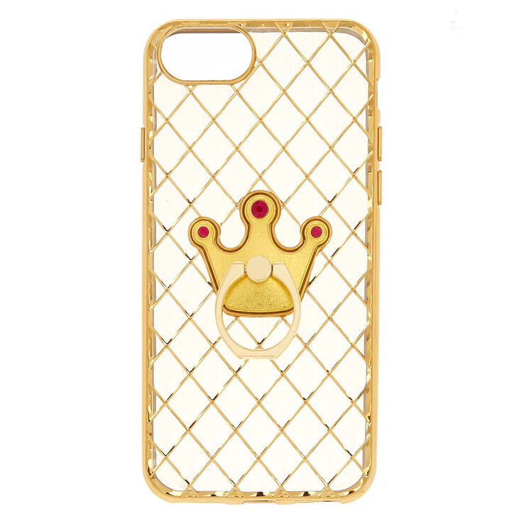 Crown Ring Holder Phone Case  - Fits iPhone 6/7/8 Plus,