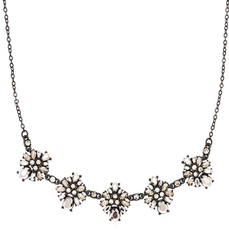 Hematite Ornate Statement Necklace,