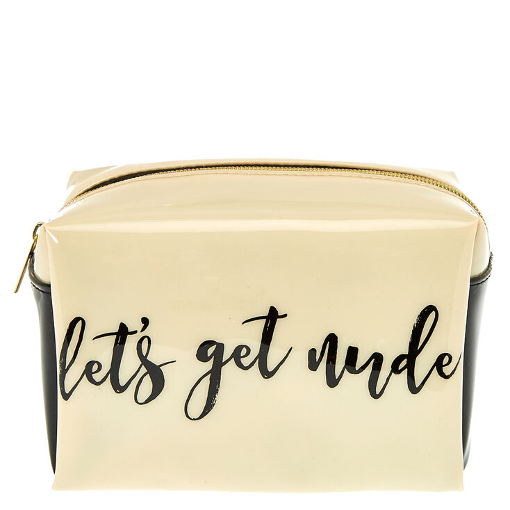 Let's Get Nude Cosmetics Bag,