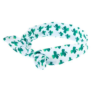 Ombre Shamrock Knot Headwrap - White,