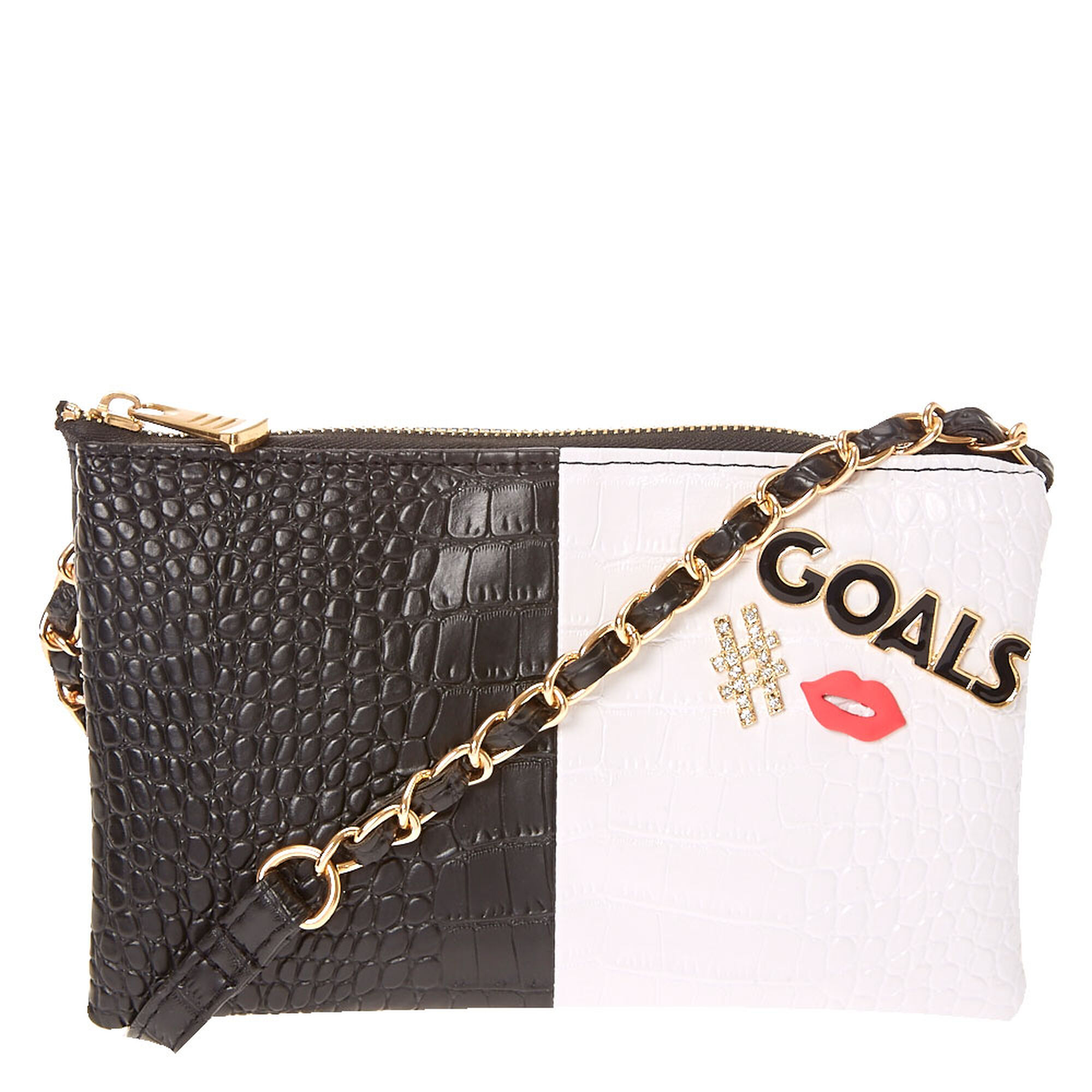 57bd088f60 Faux Crocodile Cross Body Bag