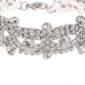 Silver Rhinestone Infinity Chain Bracelet,