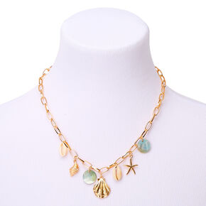 Gold Sea Style Statement Necklace,