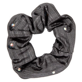 Metallic Lurex Gemstone Hair Scrunchies - Hematite,
