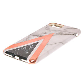 Geometric Marbled Phone Case - Fits iPhone 6/7/8 Plus,