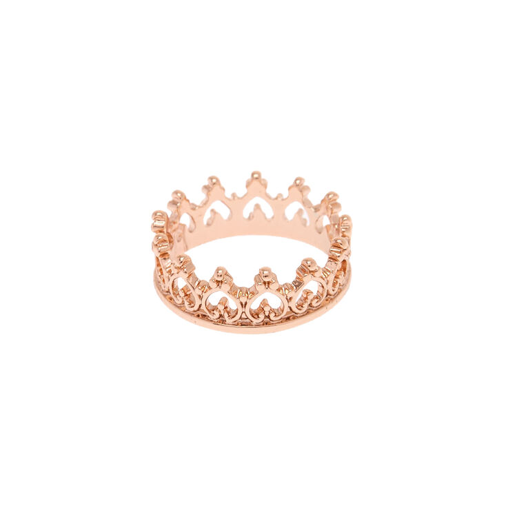 Rose Gold Crown Ring,