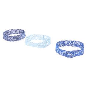 Lace Headwraps - Tonal Blues, 3 pack,