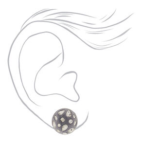 Velvet Glam Button Post Earrings,