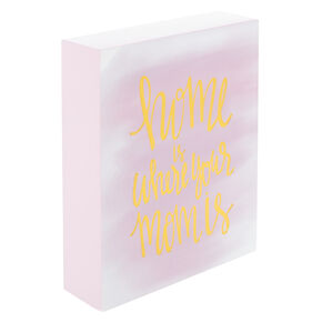 Home Is Where Your Mom Is Block Canvas - Pink,