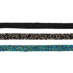 Embellished Choker Necklaces - Blue, 3 Pack,