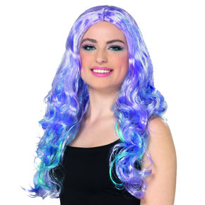 Layered Mermaid Wig - Purple,