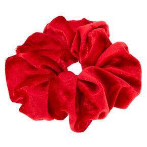 Velvet Hair Scrunchie - Red,