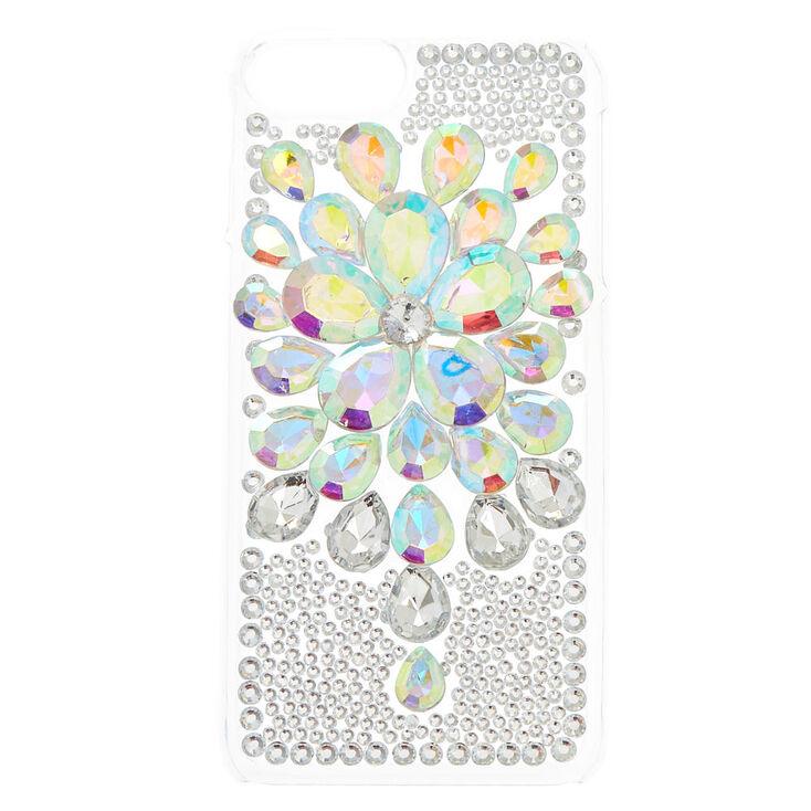 Iridescent Flower Stone Phone Case,
