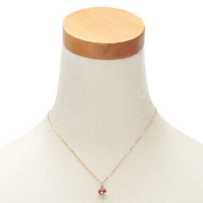 October Birthstone Pendant Necklace - Rose,