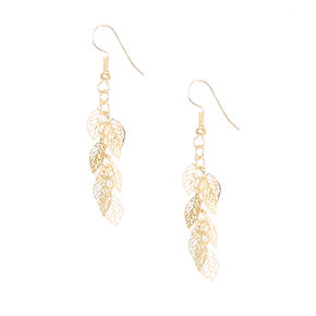 Gold Leaf Cut Out Drop Earrings,