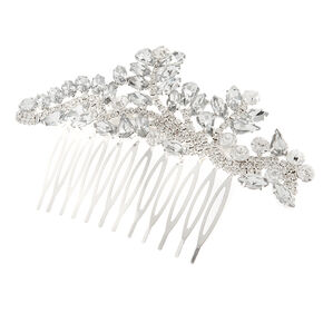 Crystal Marquis Leaves & Rhinestone Vine Hair Comb,