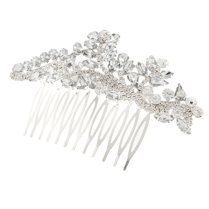 1930s Jewelry | Art Deco Style Jewelry Icing Crystal Marquis Leaves  Rhinestone Vine Hair Comb $28.50 AT vintagedancer.com
