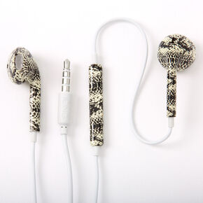 Snakeskin Earbuds with Mic,