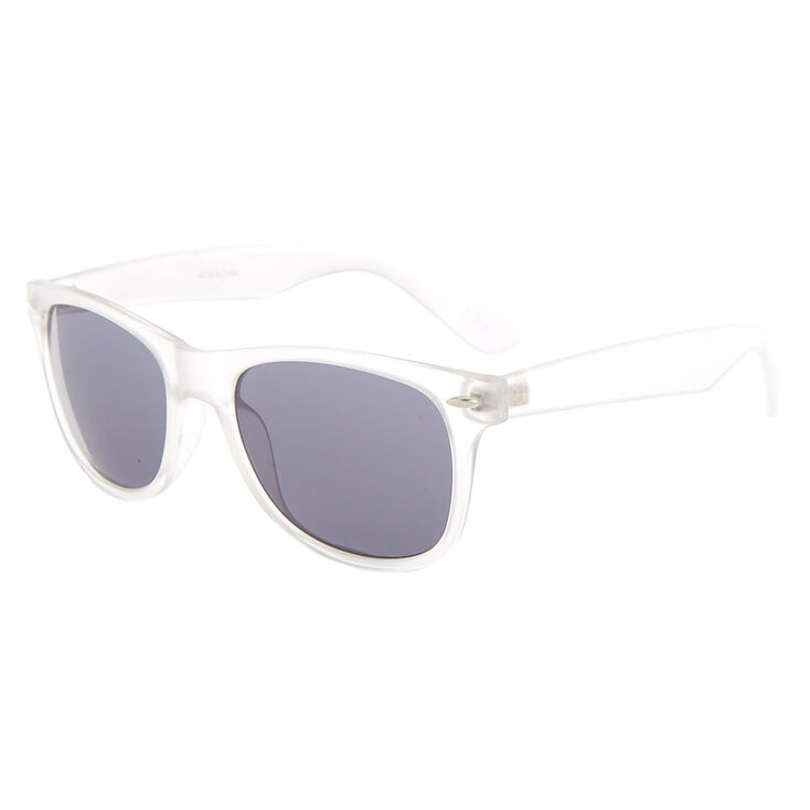 Retro Frost Sunglasses - Clear,