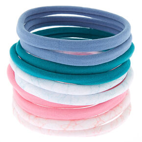 Marble Mix Hair Elastics - 10 Pack,