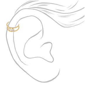 Mixed Metal Crystal Ear Cuffs - 3 Pack,