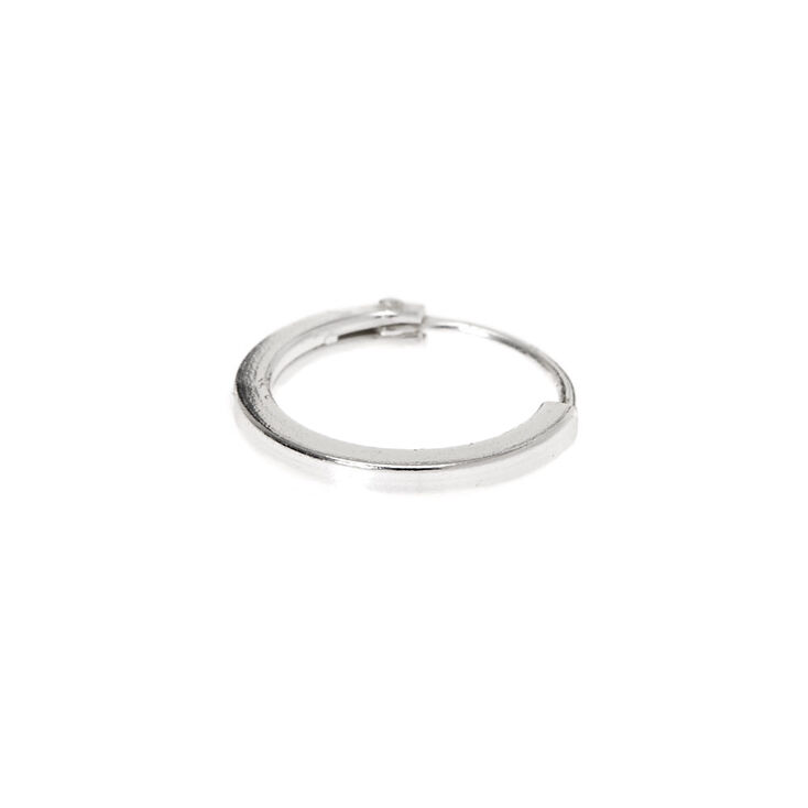 Sterling Silver 22G Basic Hoop Nose Ring,