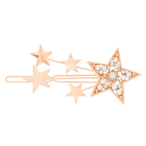Rose Gold Shooting Star Hair Clip,