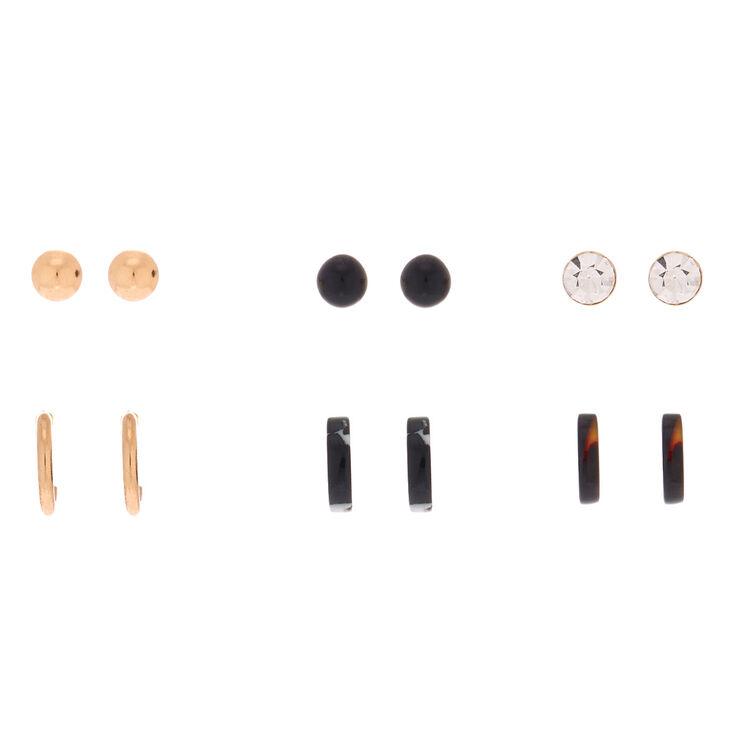 Mixed Resin Earrings - 6 Pack,