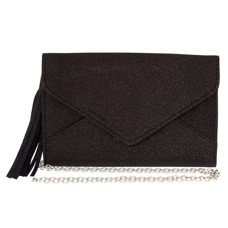 Black Glitter Clutch Purse,