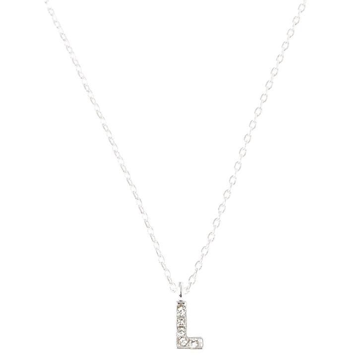 L Initial Pendant Necklace,