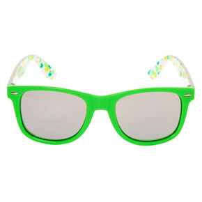 Retro Shamrock Sunglasses - Green,