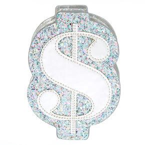 Glitter Dollar Sign Coin Purse - Blue,