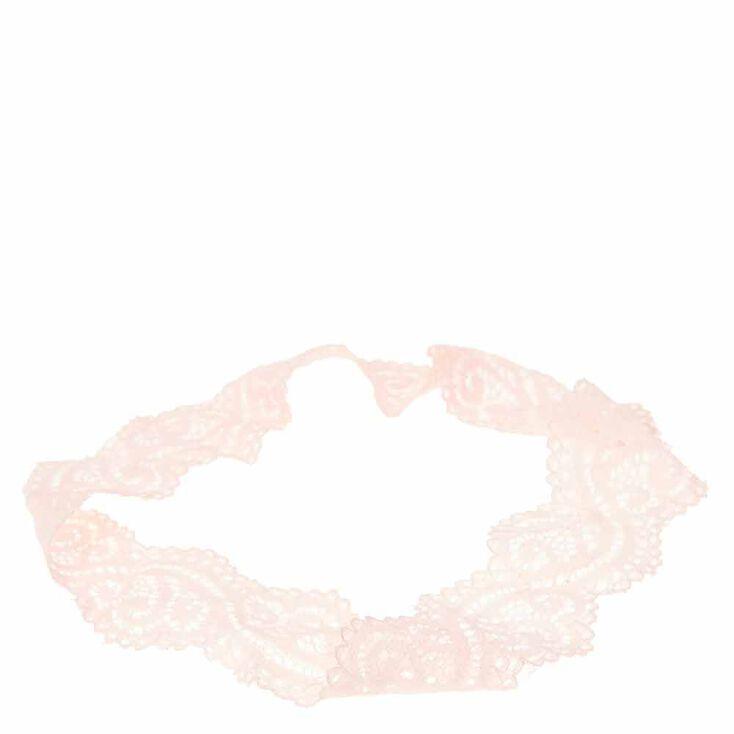 Light Pink Lace Headwrap,