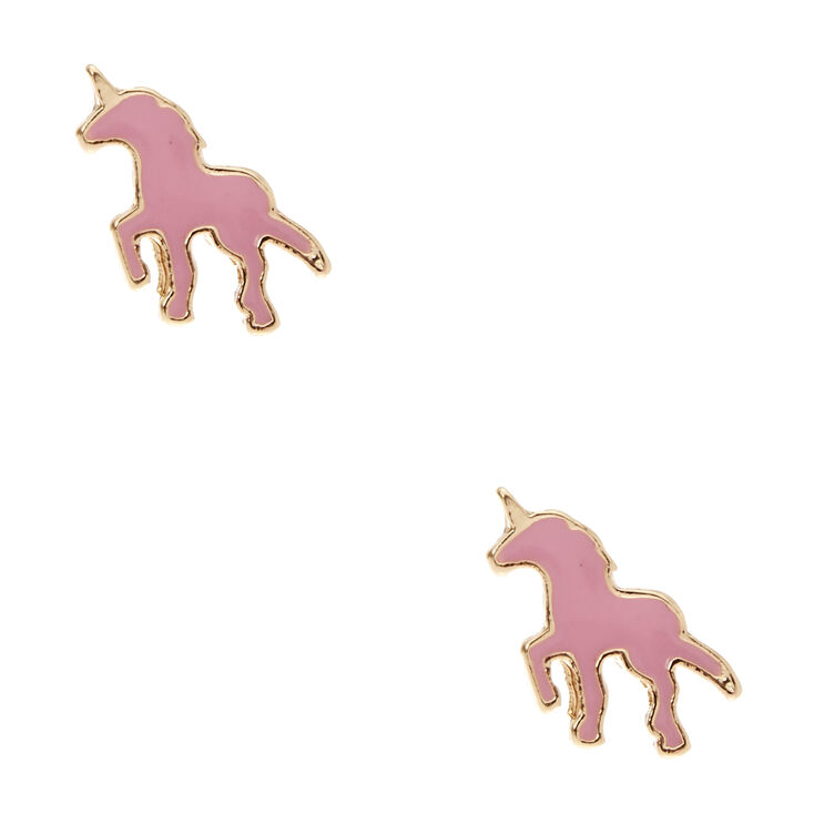 Pink Unicorn Stud Earrings,