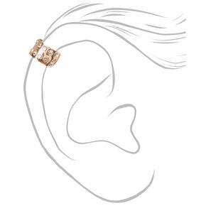 Gold Mixed Ear Cuffs - Pink, 3 Pack,