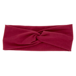 Wide Jersey Headwrap - Berry,