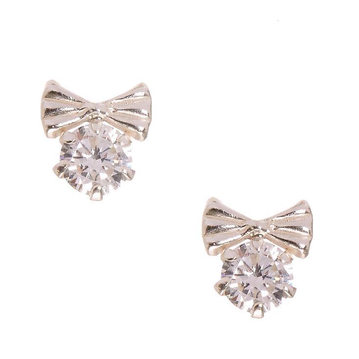 Earrings Bow Sterling Silver 925