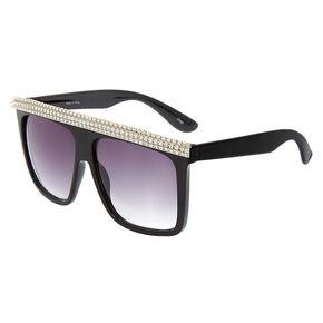 Diamond Brow Sunglasses - Black,