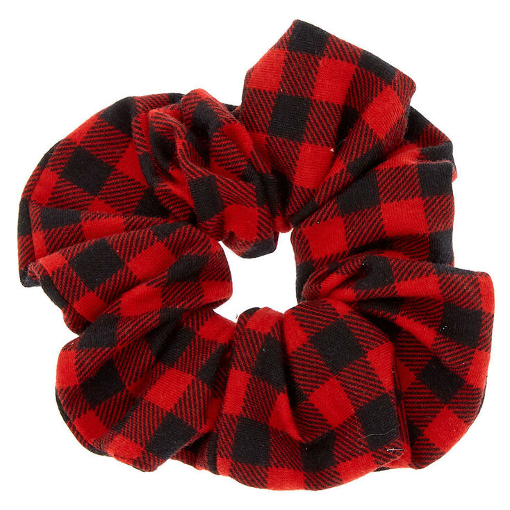 Buffalo Check Hair Scrunchie - Red,