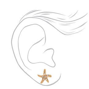 Mixed Metal Ocean Treasures Magnetic Stud Earrings - 9 Pack,