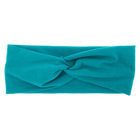 Wide Jersey Ocean Green Headwrap,