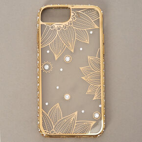 Clear Gold Lotus Flower Phone Case - Fits iPhone 6/7/8,